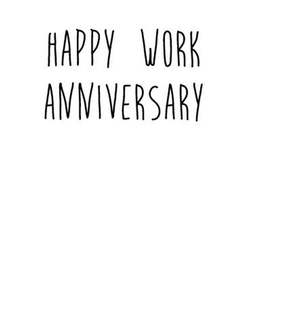 Funny Co Worker Anniversary Card Work Anniversary Work Anniversary Card For Boss Card For Staff Card For Co Worker Work Anniversary Anniversary Quotes Funny Work Anniversary Quotes