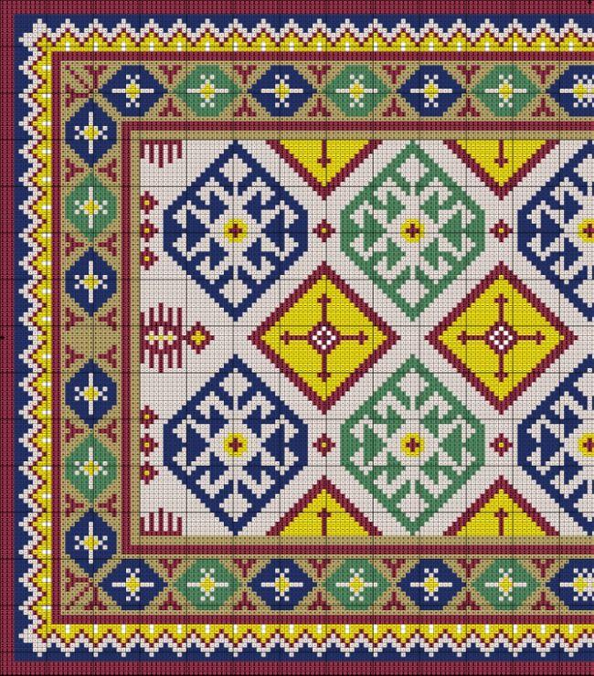 Gallery.ru / Фото #3 - Geometric Kilim Carpet - azteca