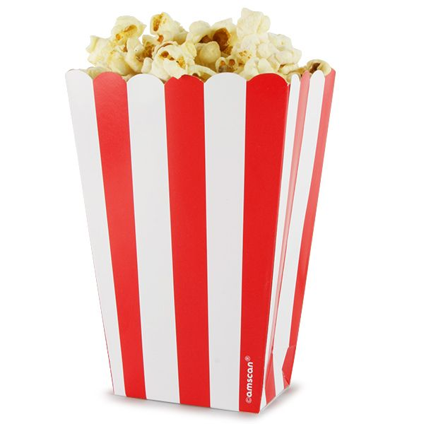 Serve up some tasty snacks with the Candy Buffet Popcorn Treat Boxes, great for all ages! Perfect for filling with freshly made popcorn for movie nights in, these disposable boxes are also ideal for filling with marshmallows, sweets or other treats for pa