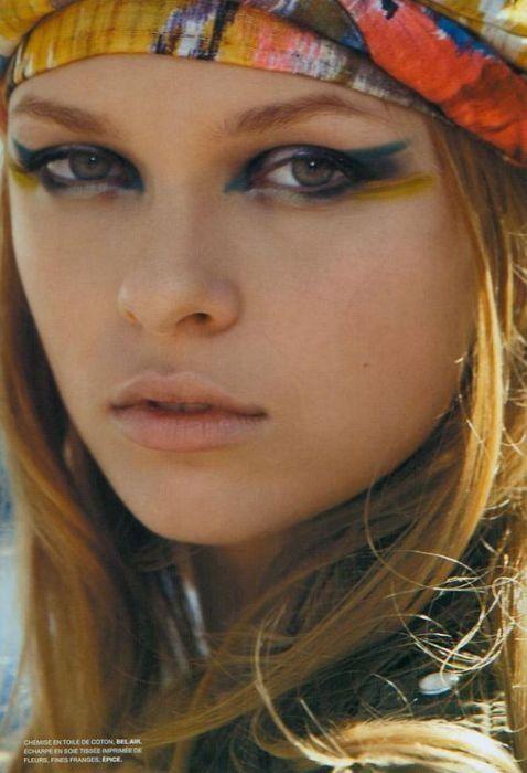 streaked makeup.