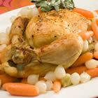 """Baked Slow Cooker Whole """"roast"""" Chicken"""