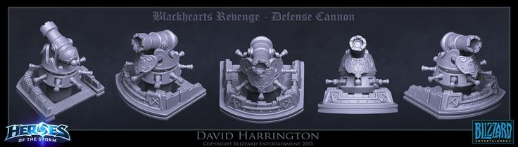 ArtStation - Heroes Of The Storm - Blackheart's Revenge Defense Cannon, David Harrington