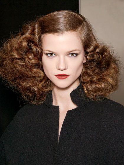 bottega veneta fall 2013 40s inspired hair