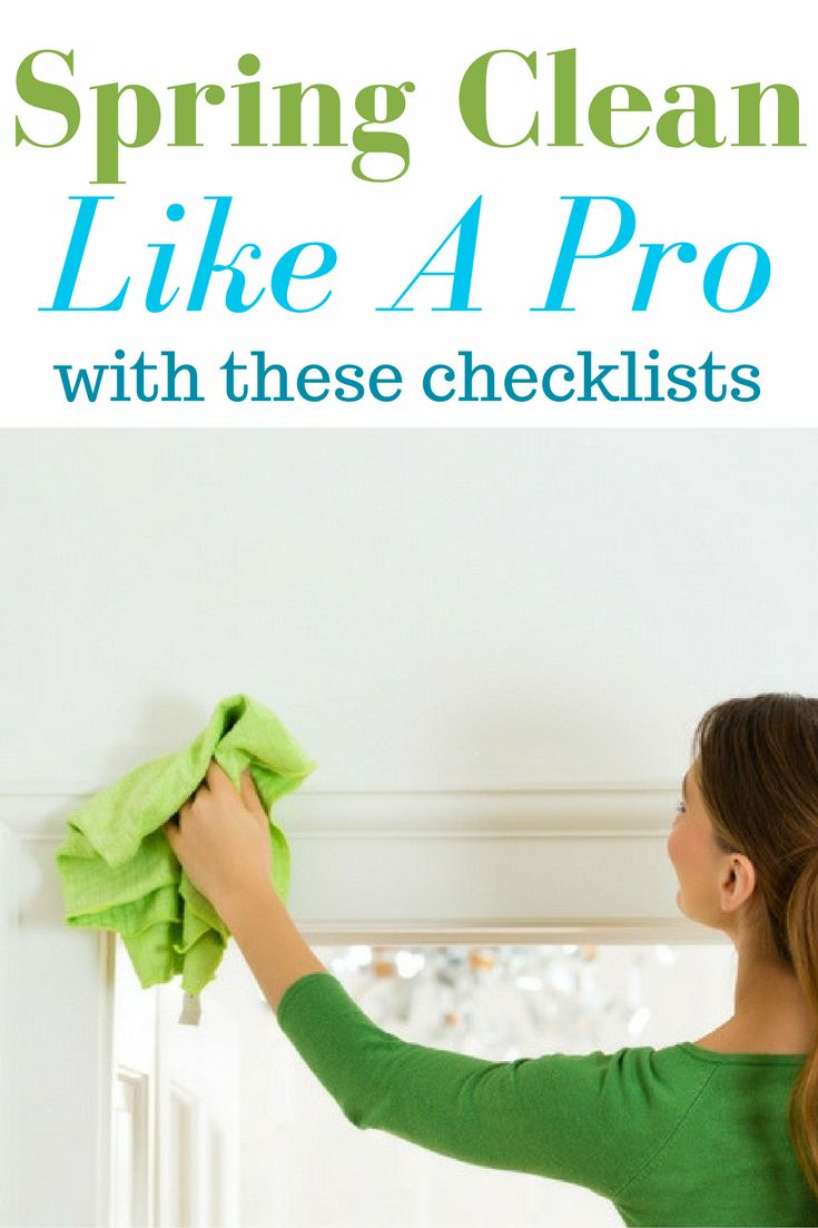 My five best Spring Cleaning checklists all in one place! These checklists for every room get my house as Spring Clean as if I had hired someone to do it. #sponsored