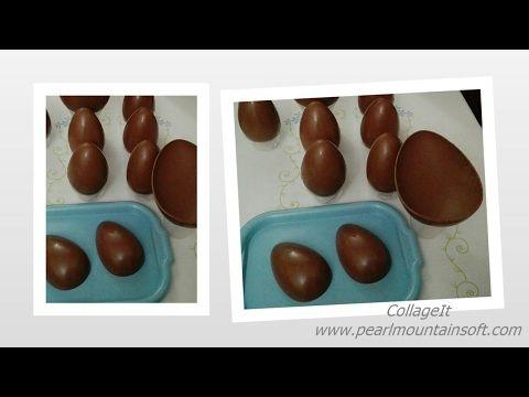 Dolcilandia e non solo...: Video tutorial : Come fare l'uovo di cioccolato