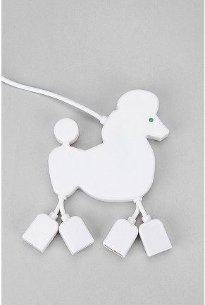 poodle USB hub!Poodles Cor-De-Rosa, Poodles Hub, Urban Outfitters, Poodles Stuff, Poodles Usb, Funny Finding, Things, Usb Hub, Usb Port