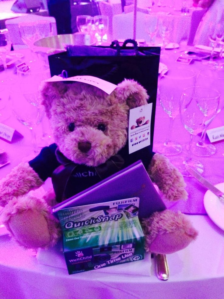A Say it with Bears teddy at the 2014 #wellchildawards given as a memento for achievements in 2014. Support and follow @WellChild #siwb