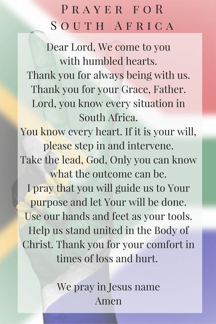 Prayer for South Africa