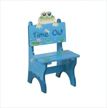 Teamson Kids Froggy Hand Painted Kid Time Out Chair traditional-kids-chairs