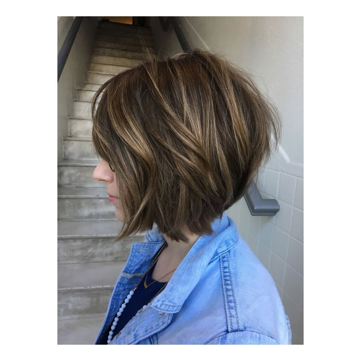 Short hair texture bob textured bob undercut stacked haircuts haircut hairstyle  IG: @hairbypaigegoodwin  Www.salonustyle.com