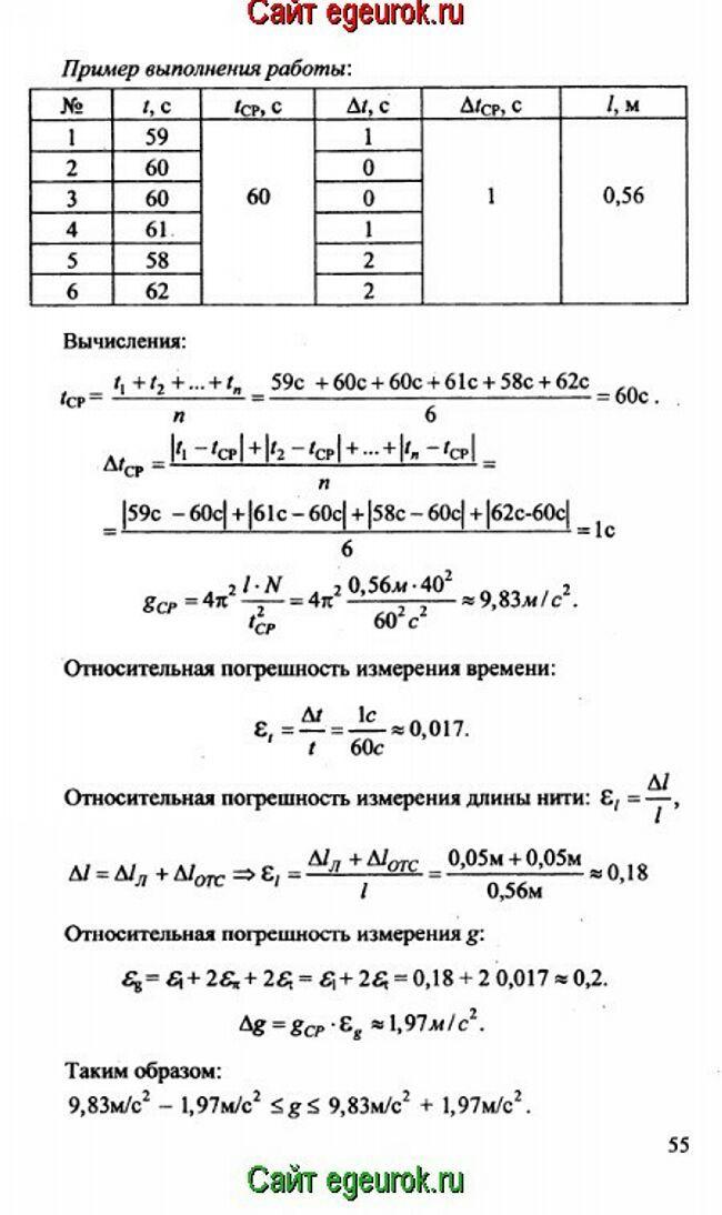 Решебник физика лабораторные работы контрольные задания 10 класс губанов