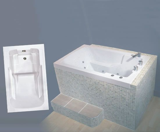 Nirvana japanese style deep soaking tub shower room for Soaking tub deep