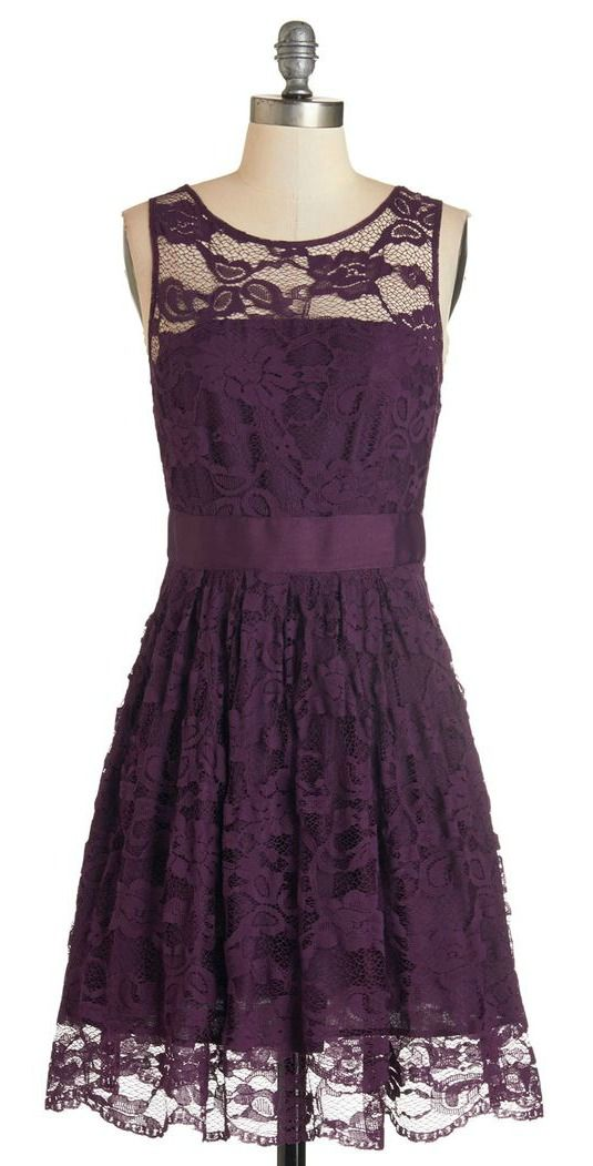 plum lace dress. great for bridesmaids!