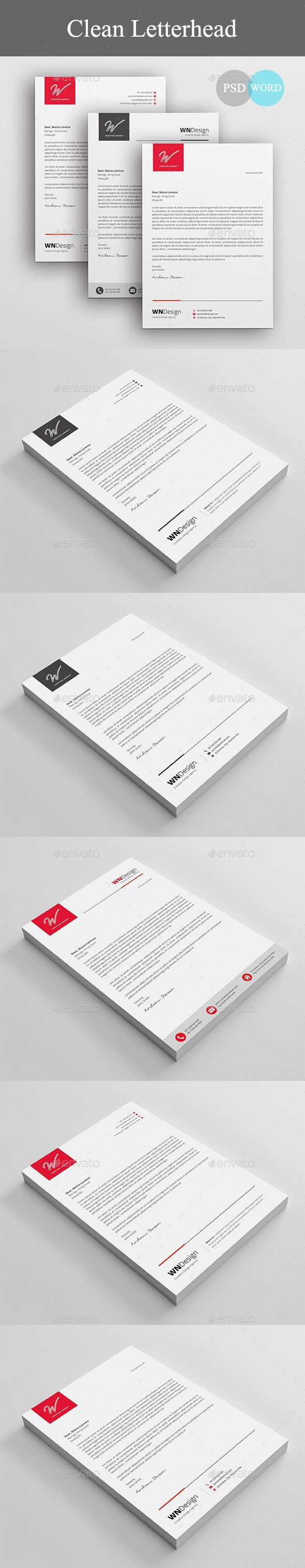 Corporate Letterhead Design Template - Stationery Print Letterhead Design Template PSD. Download here: https://graphicriver.net/item/letterhead/19420497?ref=yinkira