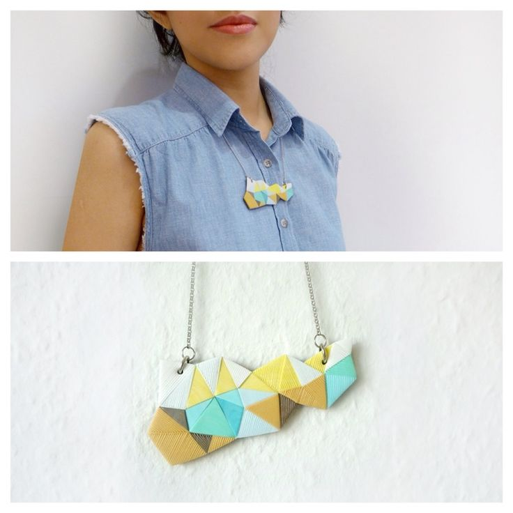 Small Polymer Clay Necklace
