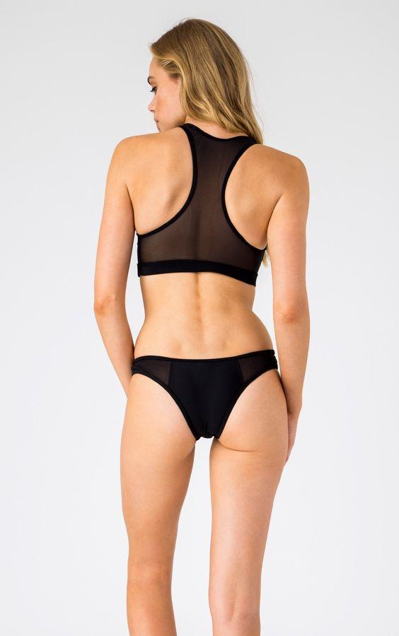 Sporty Mesh Bikini set in Black