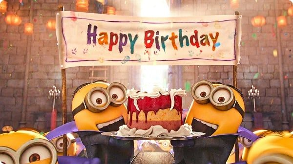 Minions Happy Birthday Gif Memes Images And Songs With Images