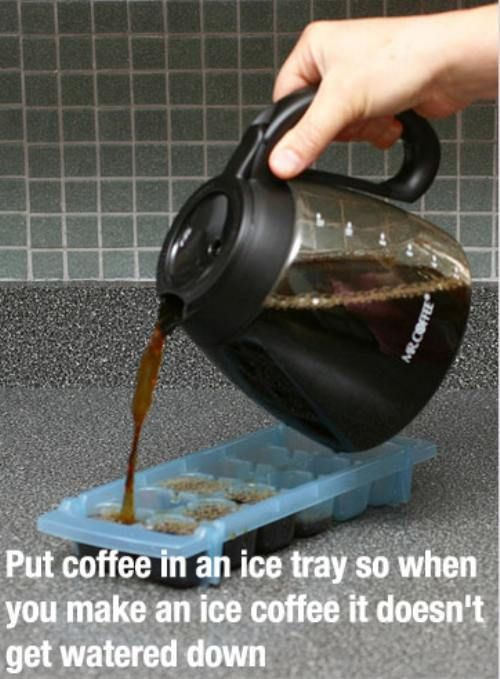 Also works with tea, lemonade, etc. - life hack 21 Life hacks changing lives (24 photos)