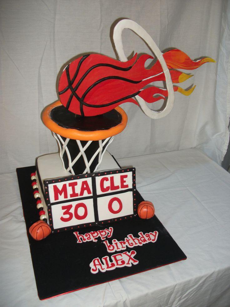 Miami Heat Basketball Party Ideas   Miami Heat - 2013 Eastern Conference Champs!  / Miami Heat Cake