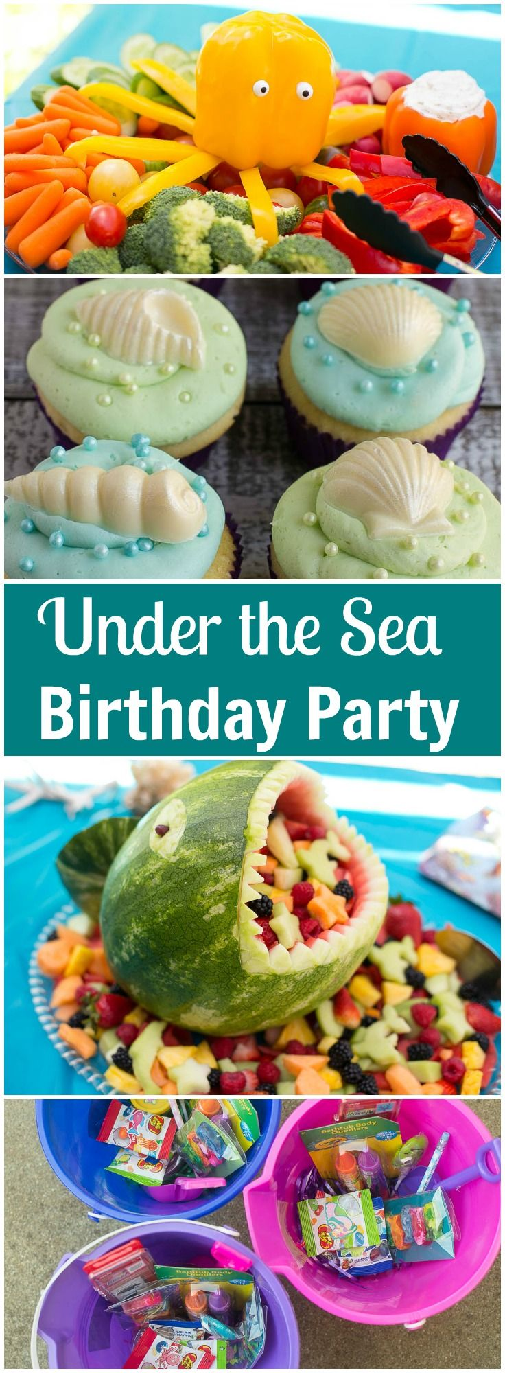 DIY for an Under the Sea birthday party - ideas for food, decorations, favors and more!