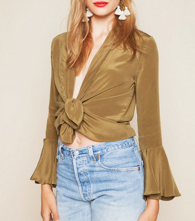 Stone Cold Fox Radical Blouse - Olive