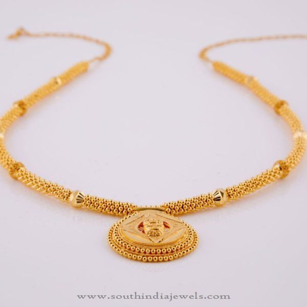 Simple Gold Necklace Designs, 22K Gold Simple Gold Necklace Designs 2016.