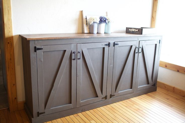 Hello there! I am so excited about this build! One of my first builds was a rustic sideboard for the dining room and I loved it! But, it was very open, and I realized I needed more space to store s…
