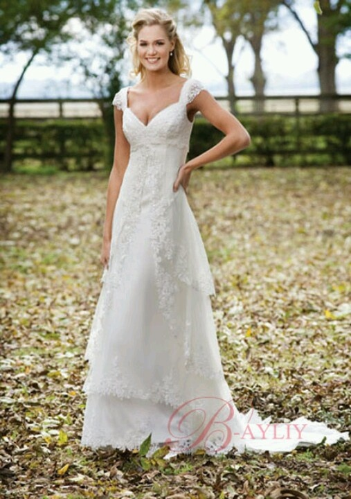 Wonderful Simple Yet, Beautiful. Perfect Outdoor Wedding Dress