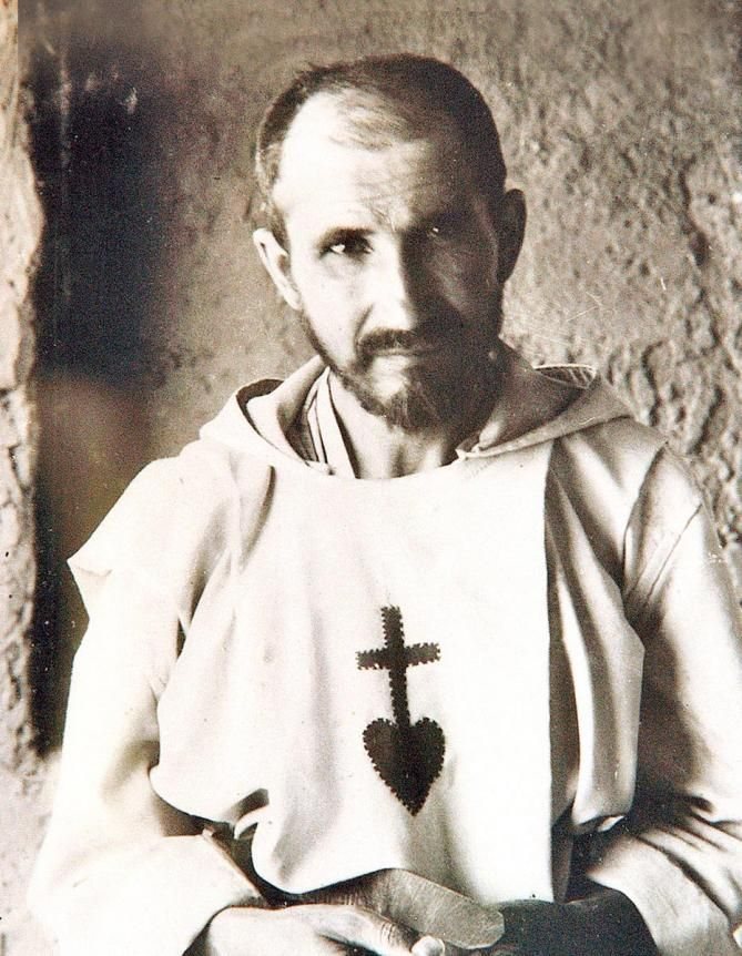 "12/1: Blessed Charles de Foucauld (1858-1916) - ""Bring them the Gospel not by your words but by your example, not by proclaiming it but by living it...But how can this be done? Be all things to all people with a single, clear desire in your heart: to give them Jesus."" (more about him at  https://contemplativeinthemud.wordpress.com/tag/charles-de-foucauld/page/2/)"