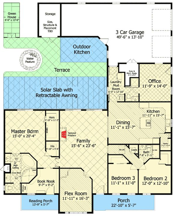 Plan 20107ga Country Home With Flex Room House Plans Flex Room Country House Decor