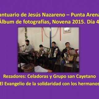 """Santuario de Jesús Nazareno – Punta Arenas Álbum de fotografías, Novena 2015. Día 4. Rezadores: Celadoras y Grupo san Cayetano """"El Evangelio de la solidarid. http://slidehot.com/resources/album-de-fotos-novena-2015-dia-4.40988/"""