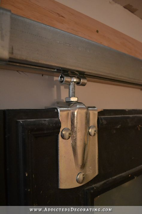 how to install square rail door track - cheap barn door hardware - 13