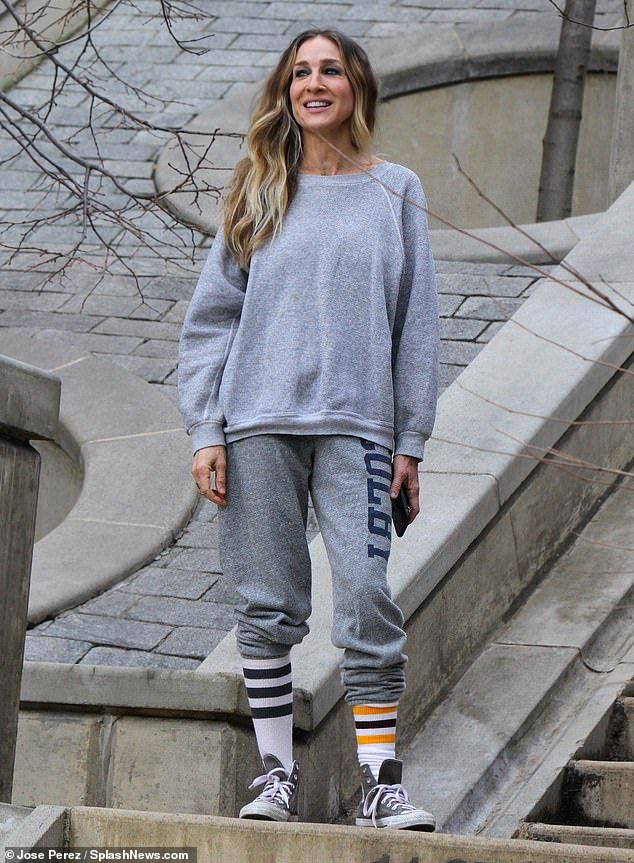 Sarah Jessica Parker works on her fitness as she sports