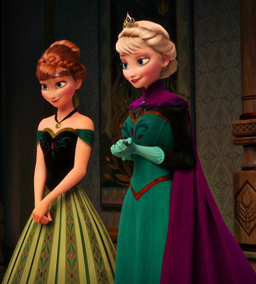 elsa and anna coronation frozen anna and elsa coronation. Black Bedroom Furniture Sets. Home Design Ideas