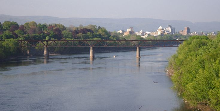 Skyline of Wilkes-Barre and Susquehana River, Wilkes-Barre, Pennsylvania