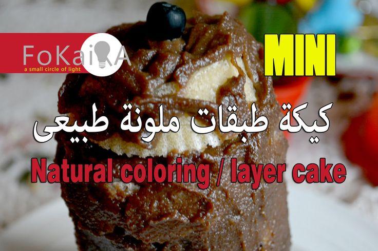 Layercake natural color الفكيرة 63|مينى كيك طبقات ملونة طبيعى
