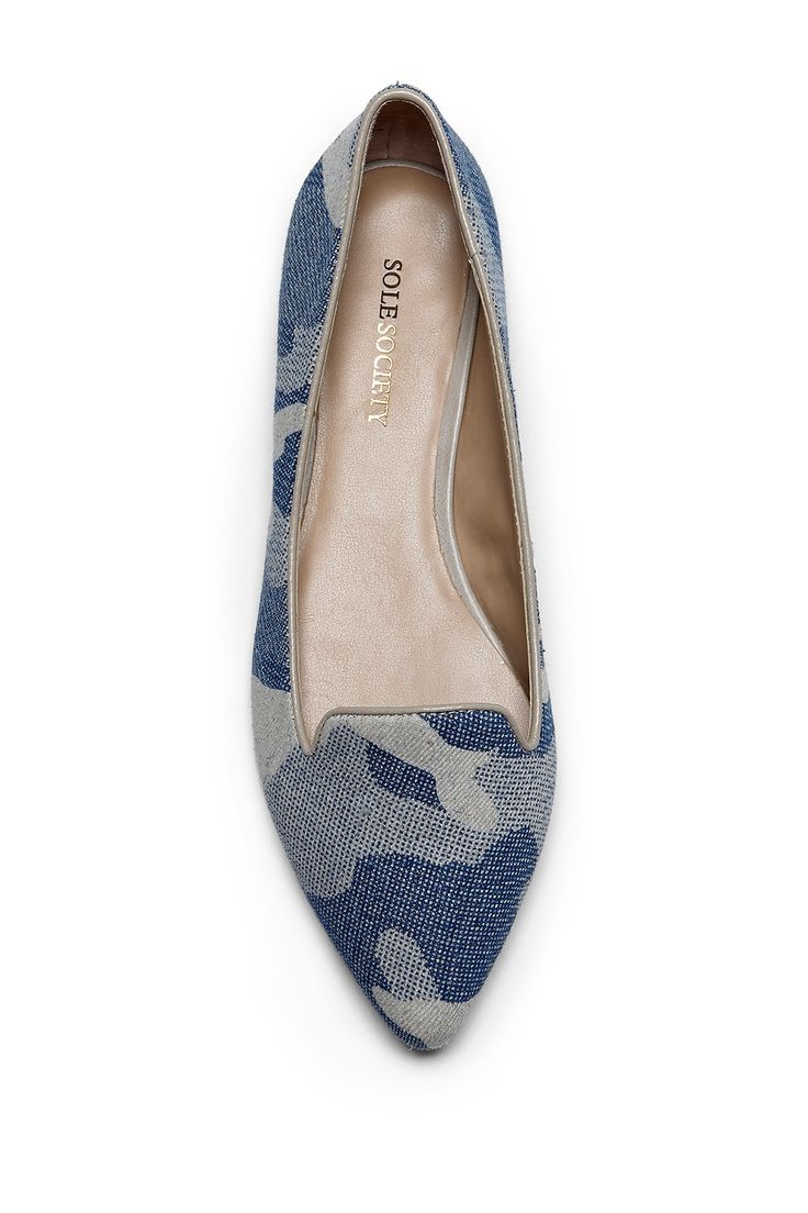 """I would never camouflage my love of denim, not even in these """"smokin"""" slippers!  Sole Society's """" Harla"""""""