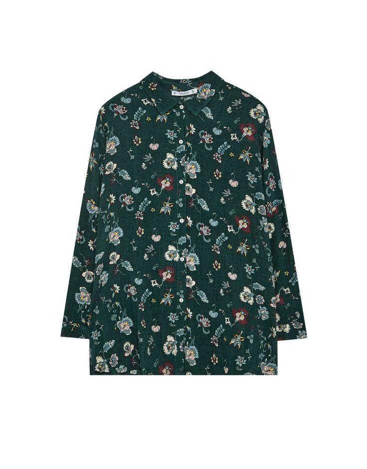 Camisa estampado floral manga francesa - Blusas y camisas - Ropa - Mujer - PULL&BEAR México
