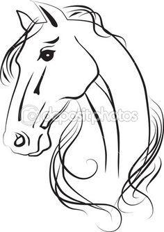 Isolated drawing of horse head — Imagen de stock #13198222