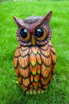 Cement Spring Owl Fig #GardenOwl