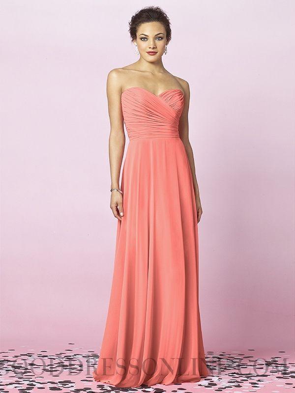 Best-selling A-line Sweetheart Floor-length Chiffon Bridesmaid Dresses