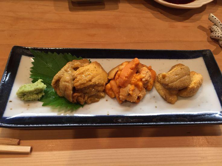 three kinds of urchin