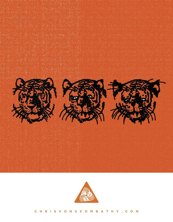 """""""Tiger"""" an illustration by artist/designer Chris von Szombathy."""