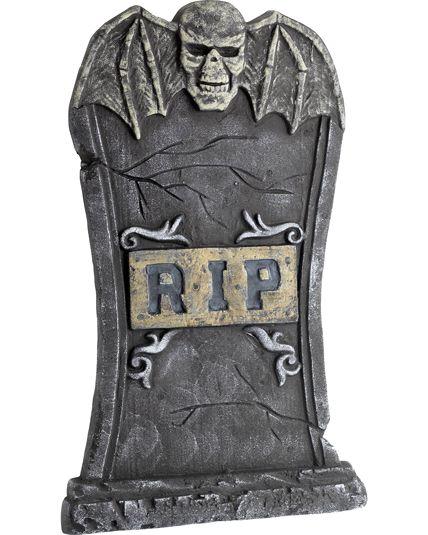 Décoration de cimetière pour halloween : une pierre tombale effrayante Le Deguisement.com