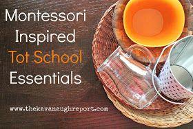 Montessori Inspired Tot School Essentials