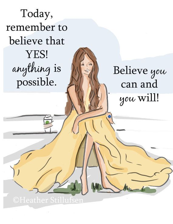 Wall Art for Women Anything Is Possible by RoseHillDesignStudio