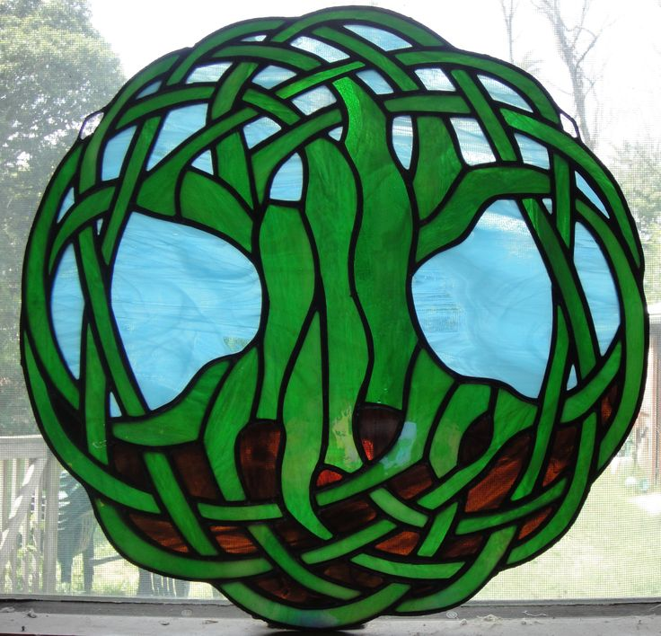 celtic stained glass, this would be awesome in different colors
