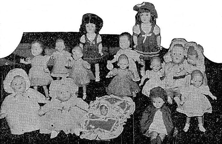 Crolly Dolls in a 1946 newspaper article
