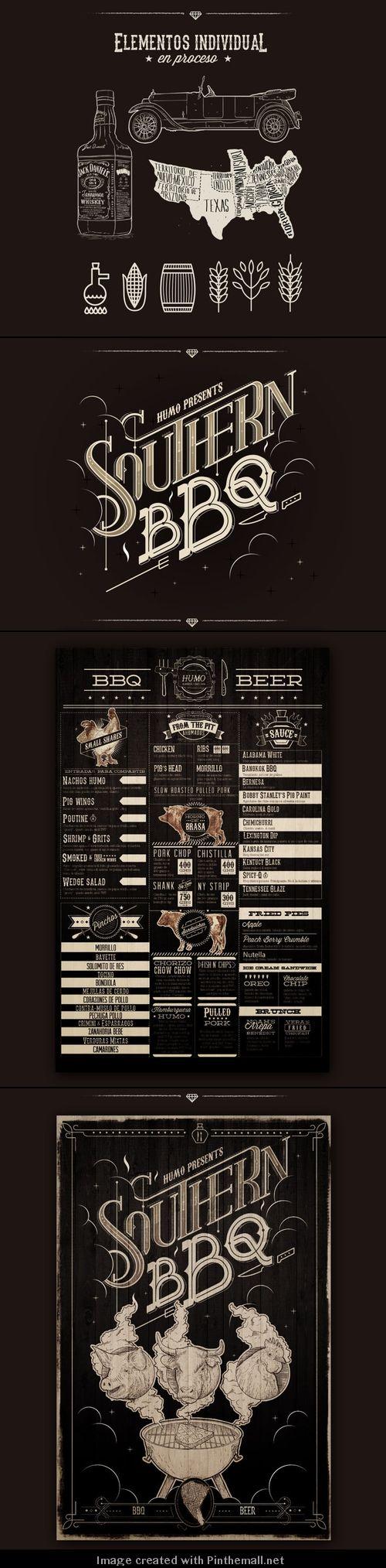 Great design Southern BBQ #brandidentity