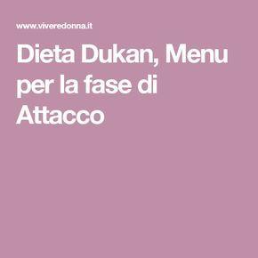 Dieta Dukan, Menu per la fase di Attacco